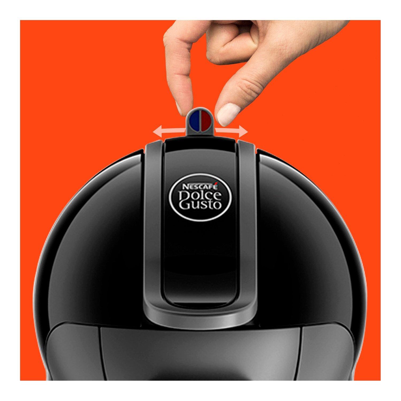 Nescafe Piccolo EDG 200.B Dolce Gusto Single Serve Coffee Maker and Espresso Machine by De'Longhi - Black