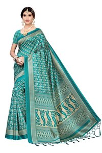KALAMKARI KHADI SILK SAREE  WITH JHALAR  FOR WOMEN