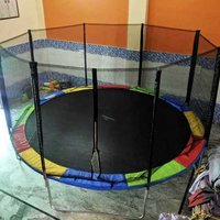 colored trampoline