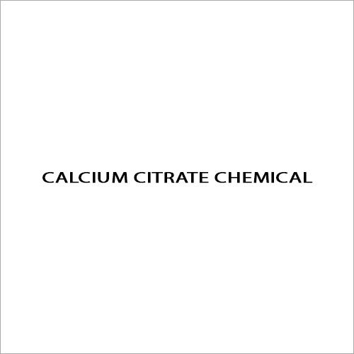 Calcium Citrate Chemical