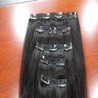 HUMAN HAIR WIG CLIP HAIR EXTENSIONS