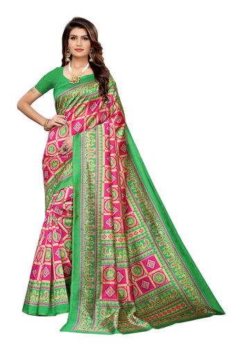 New banarasi style kalamkari silk saree