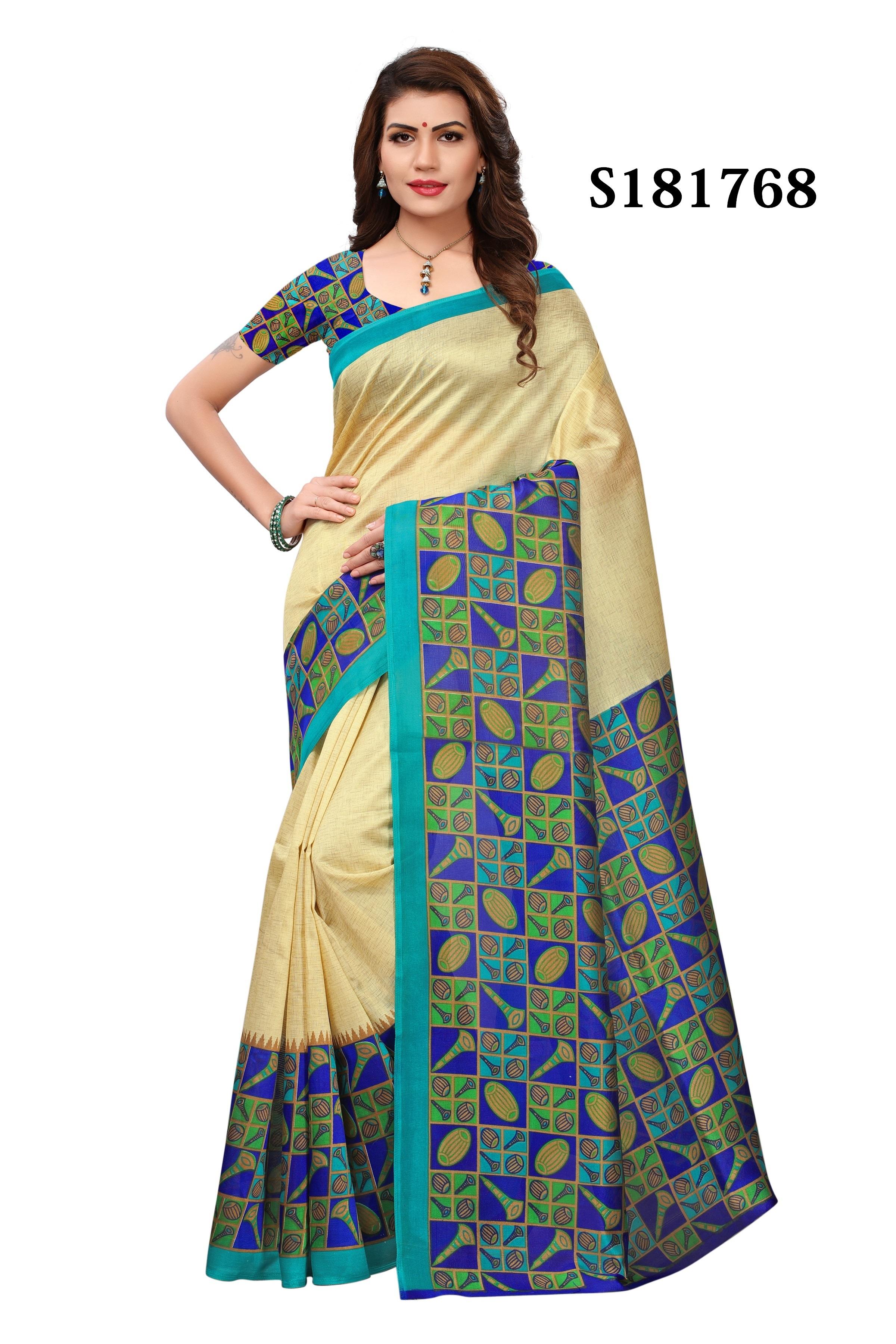 Kalamkari Khadi Silk Saree For Women