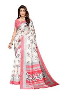cotton silk kalamkari silk saree with 4 colors