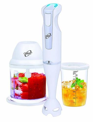 Orpat HHB-157E-EC 250-Watt Hand Blender with Chopper (White)