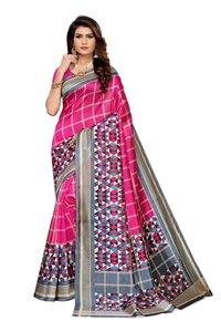 women's new design printed kalamkari  silk saree