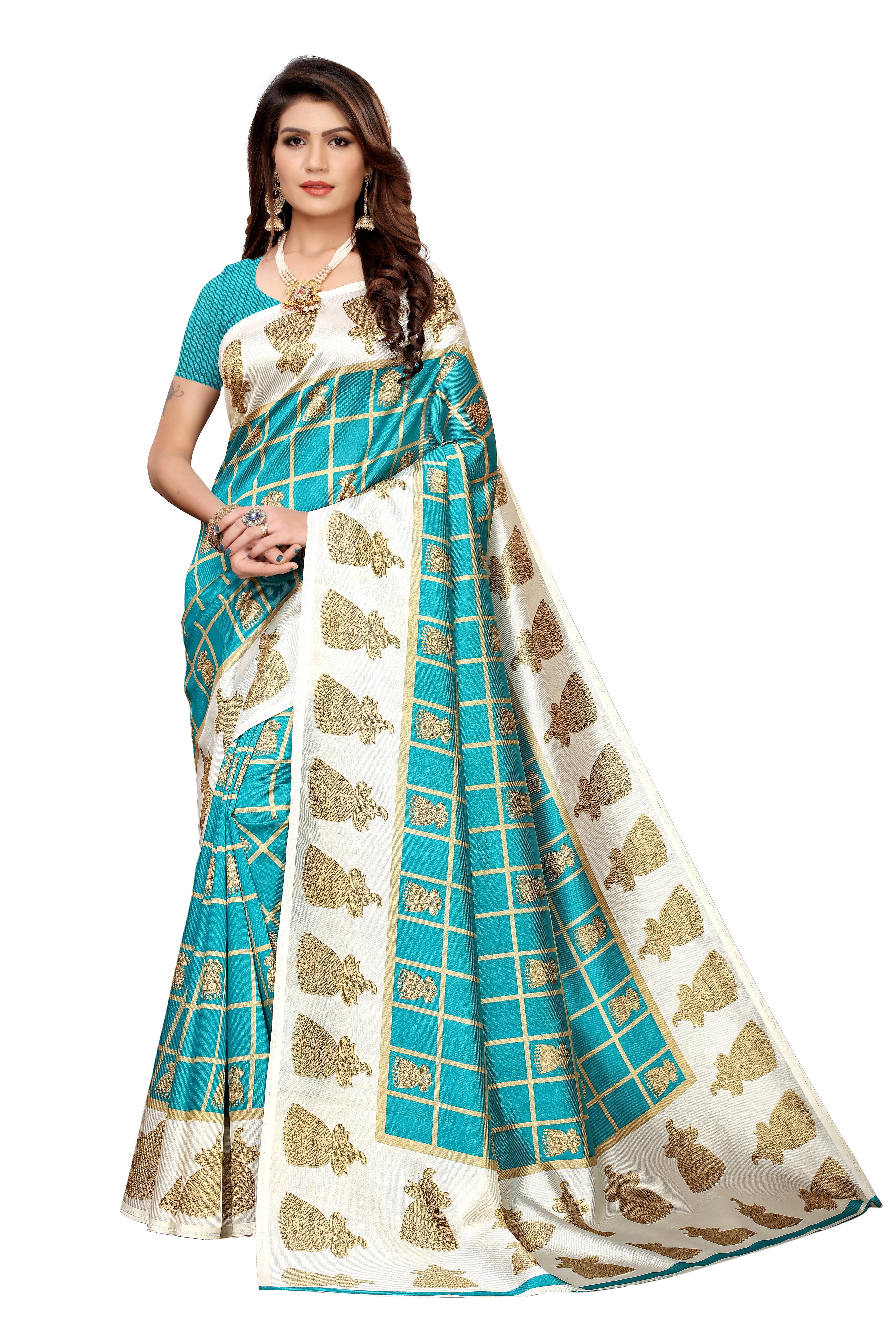 new bollywood style kalamkari silk saree