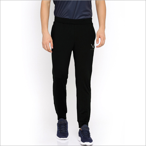 Mens Solid Black Jogger