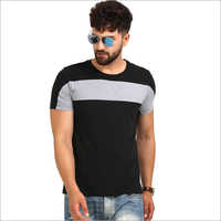 Mens Black And Grey T-Shirt