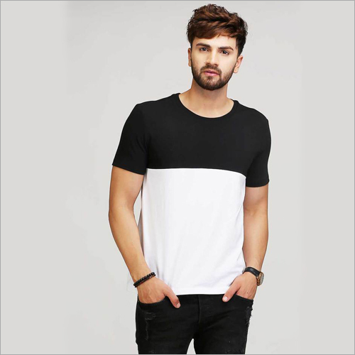 Mens Black And White T-Shirt