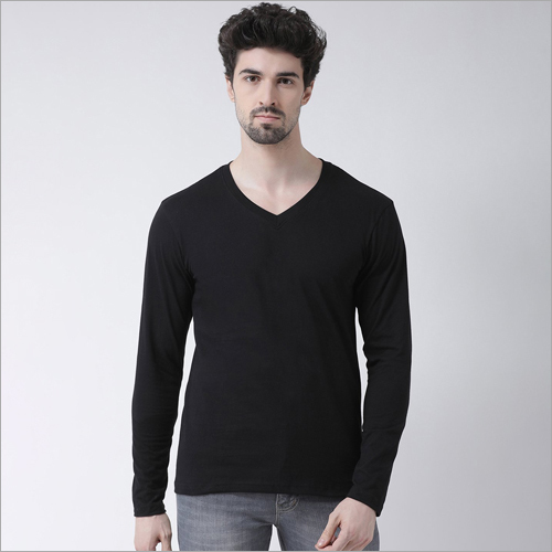 Full Sleeves V Neck T-Shirt