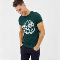 Mens Dark Green Graphic T-Shirt