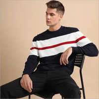 Mens Felix Navy Blue Full sleeve T-Shirt