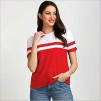 Girls White and Red T-Shirt