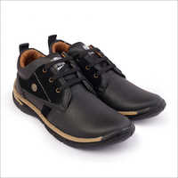 Black Wood Chief Pure Leather Shoes