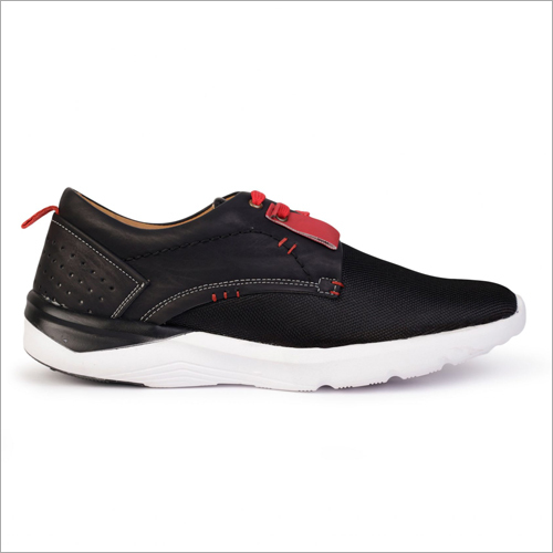 Mens Black Red Contrast Casual Shoes