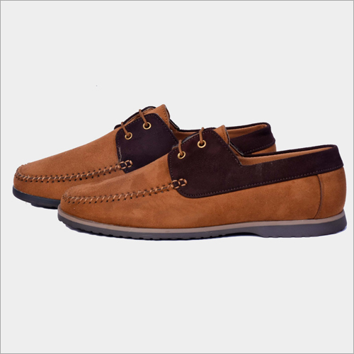 Mens Suede Brown Sneaker Shoes