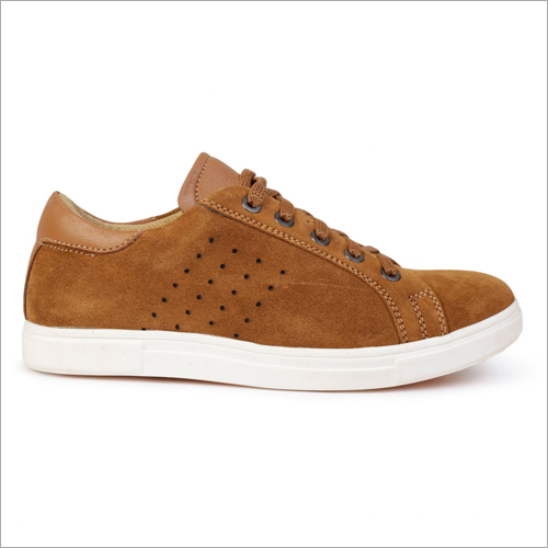 Mens Suede Wagon Tan Casual Shoes