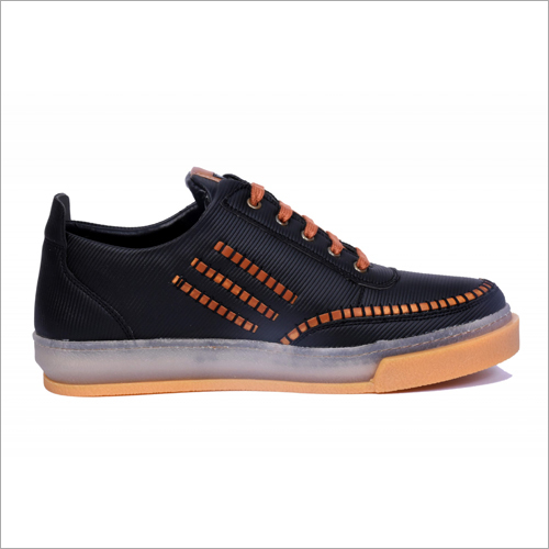 Mens Ultra Check Black Casual Shoes