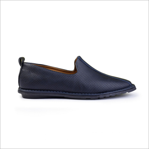 Mens Blue Woven Loafers