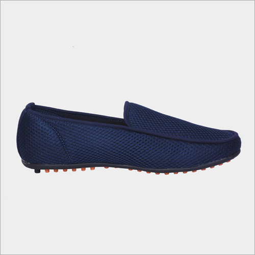 Mesh Breathable Holes Textured Loafer Shoes