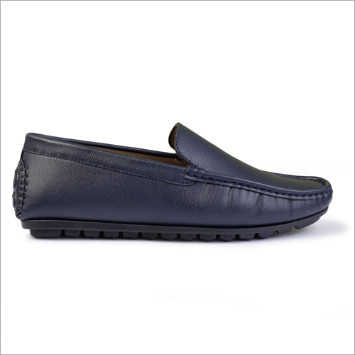 Mens mbossed Blue Driving Loafer Shoes