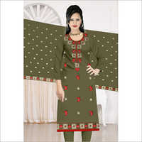 Ladies 3/4th Sleeve Churidar Suit