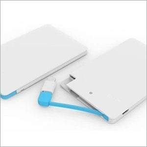 White Mobile Case With Data Cable