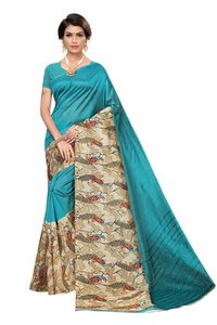 new peacock print silk kalamkari saree