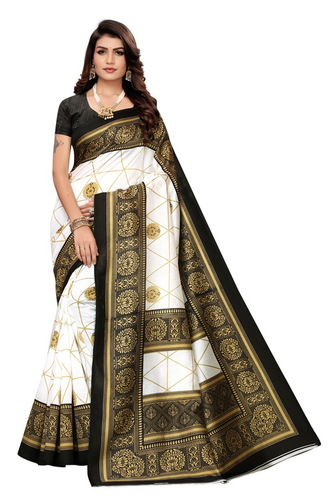 BANARASI SILK KALAMKARI SAREE WOMEN NEW TRENDING