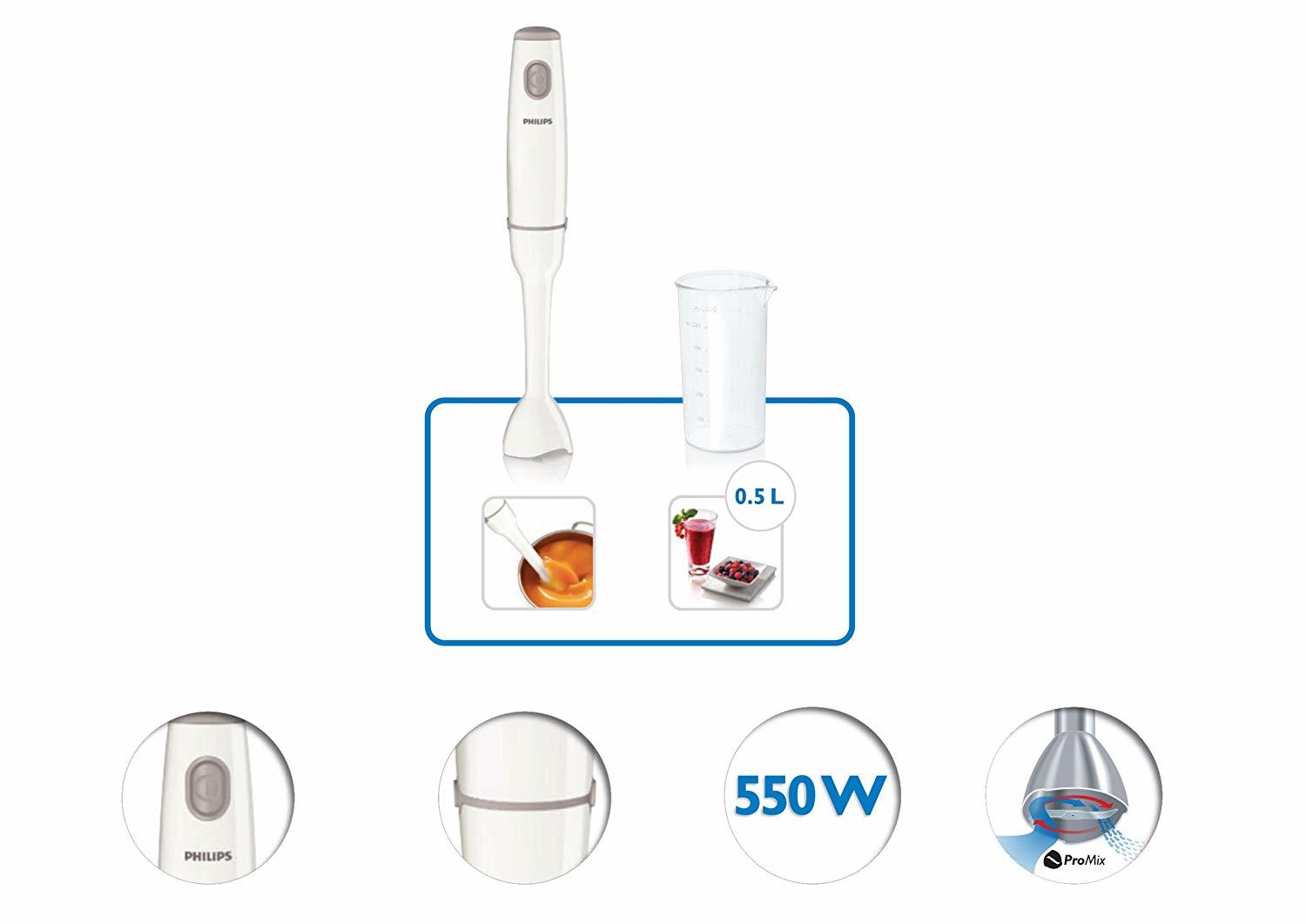 Philips Daily Collection HR1600/00 550-Watt Hand Blender