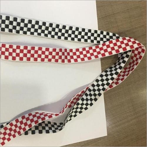 Checked Printed Polyester Ribbon