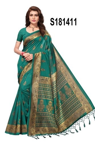 NEW BOLLYWOOD JHALAR STYLE KALAMKARI SILK SAREE