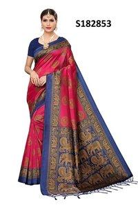 New elephant print mysore jhalar style kalamkari silk saree