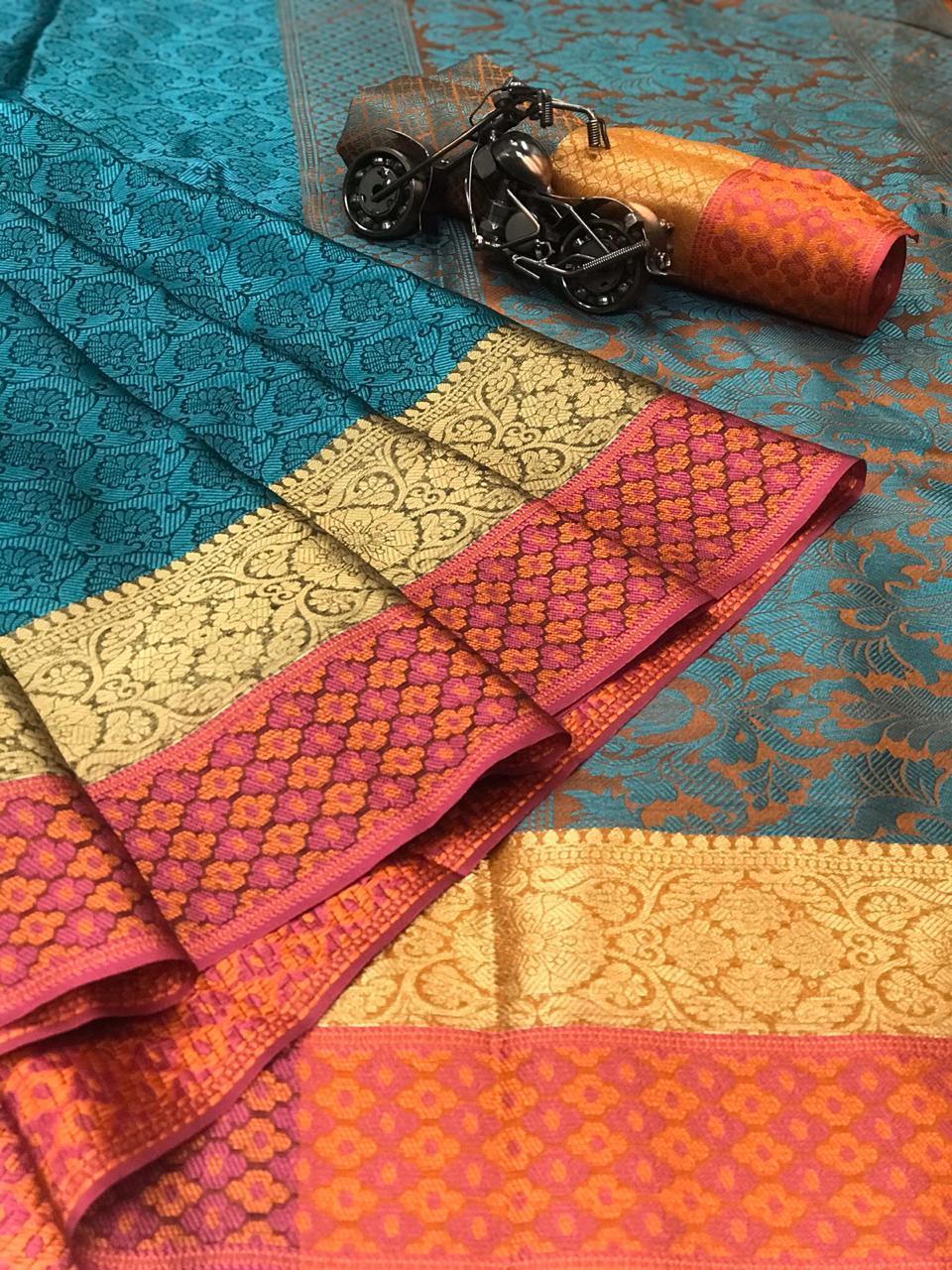 ZOYA weaving Kora muslin silk saree