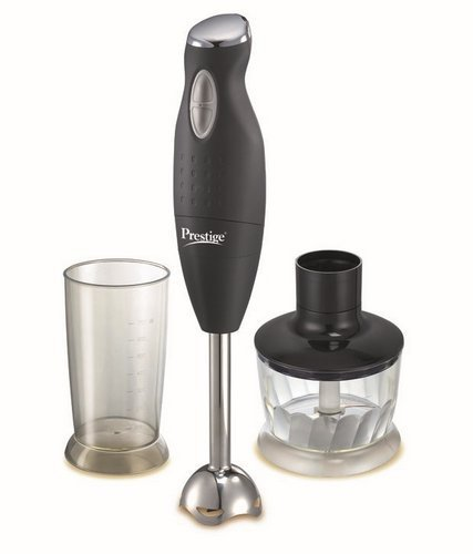 Prestige PHB 6.0 200 Watt 2 Speed Hand Blender with Blending Jar, Chopping, Whisking Attachment