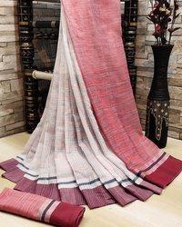 Alekhi soft Linen cotton saree