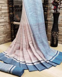 Alekhi soft Linen cotton saree