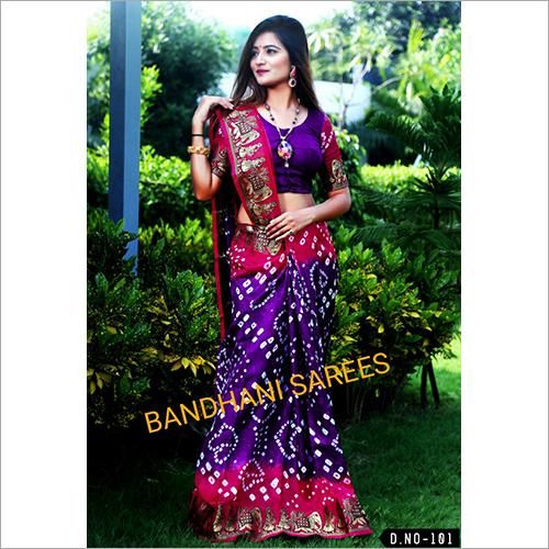 Printed Bandhani Sarees