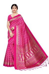 New banarasi silk jhalar style kalamkari saree