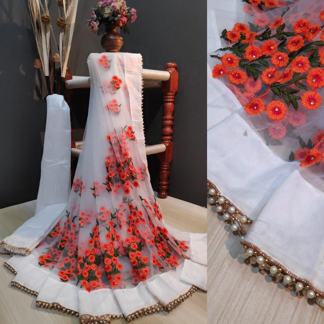 PC1199 NET WITH EMBROIDERY SAREE