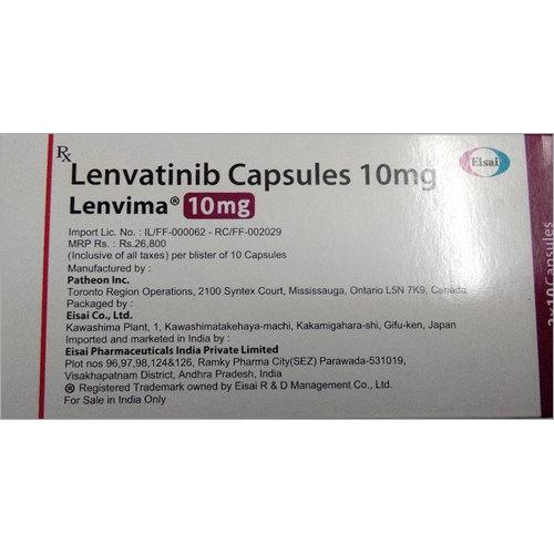 Lenvima Lenvatinib 10 Mg Capsules