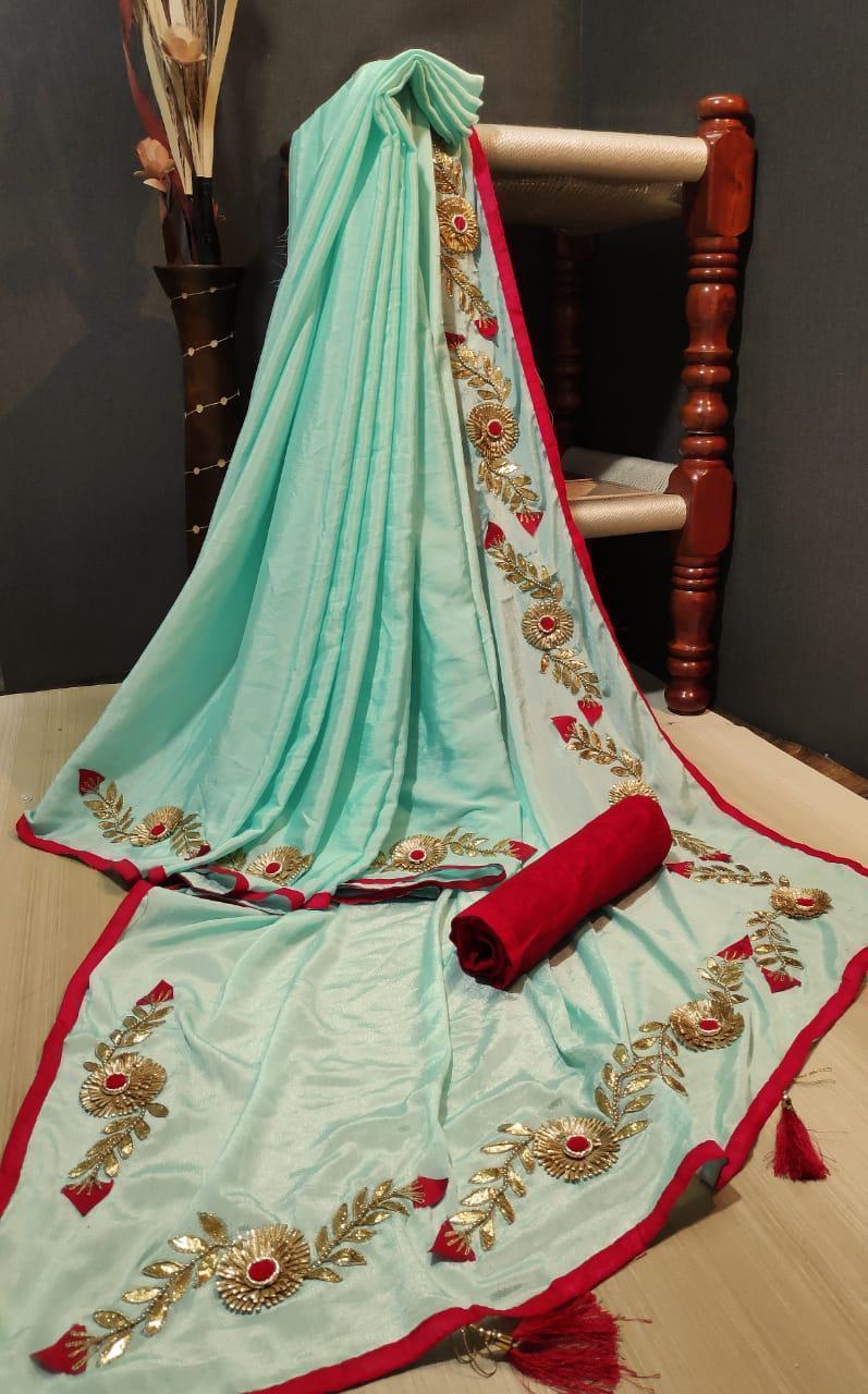 Dolashree    shinon silk saree