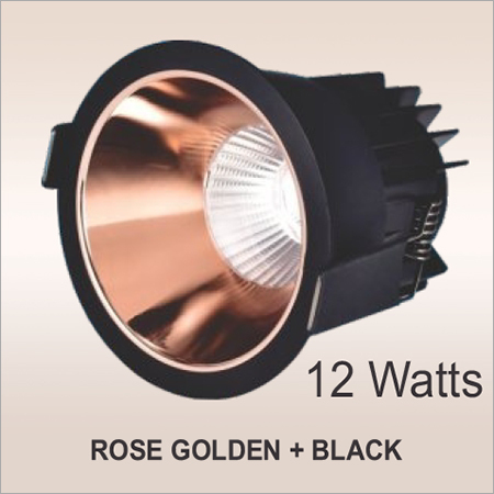 12 W Rose Golden And Black LED Cob Down Light
