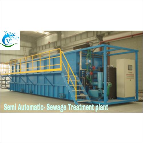Semi Automatic Sewage Treatment Plant