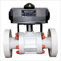 Actuator Operated Polypropylene Ball Valve