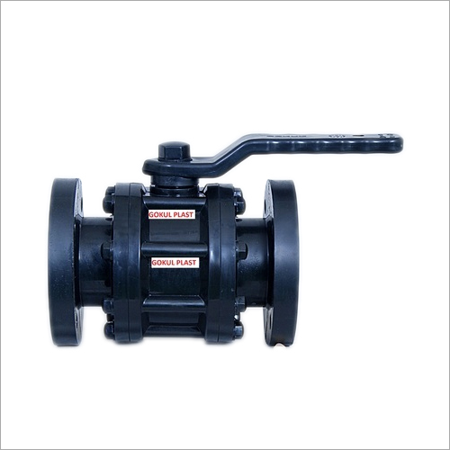 PP Black Flange End Ball Valve
