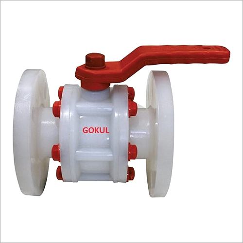 PP Flange End Ball Valve