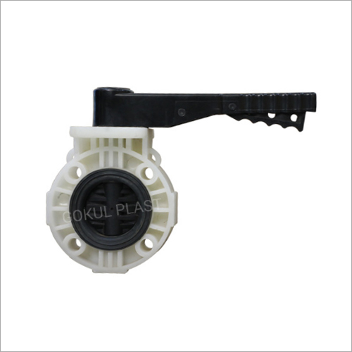 12-315 MM Wafer Type PP Butterfly Valve