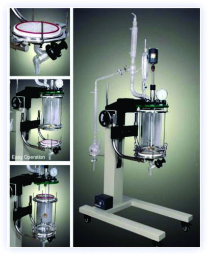Bench Scale Reaction Unit + Filter + Hand Lift